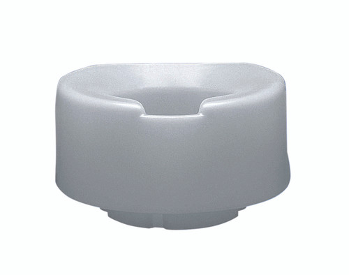 Contoured elevated toilet seat, standard with slip-in bracket, 4 inch