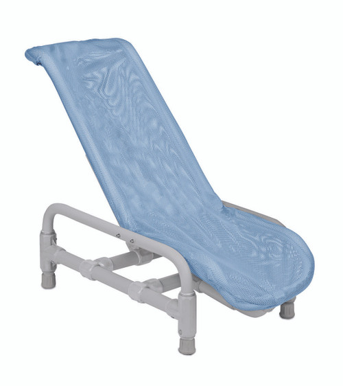 Articulating bath chair with safety harness, large to 180 lb.