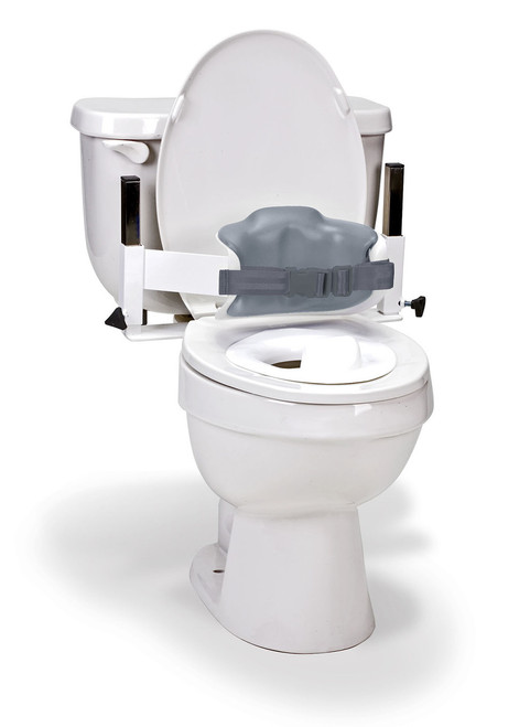 Columbia¨  Toilet Support - Low Back (Safety Belt & Reducer Ring) - Padded - Large