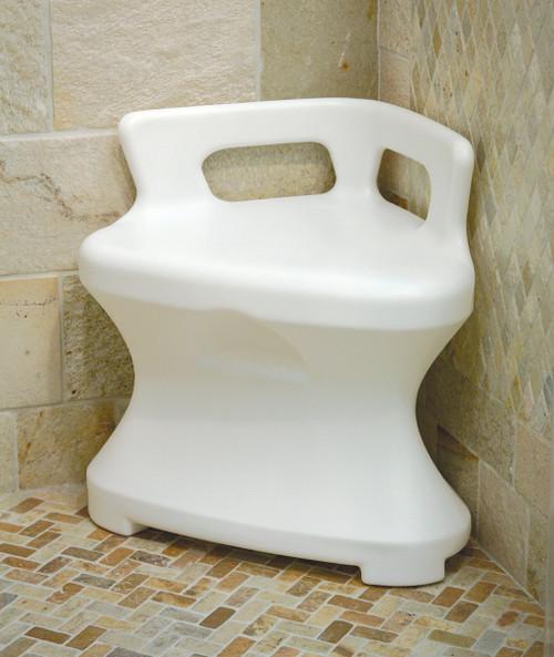 Corner shower seat