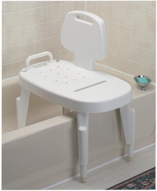 Shower transfer bench, adjustable