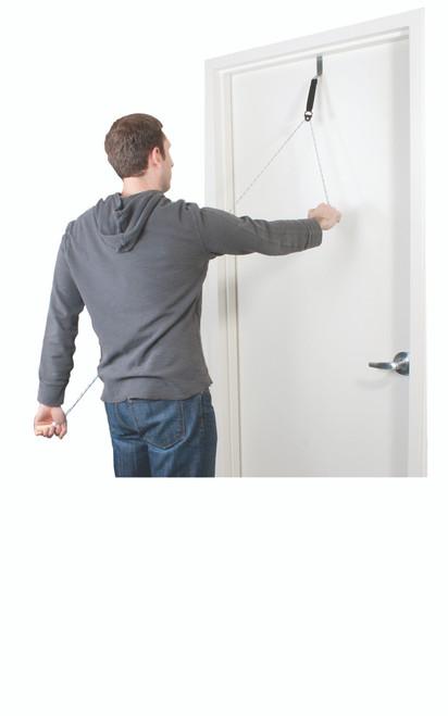 CanDo¨ Overdoor Shoulder Pulley - Single Pulley with Door Bracket