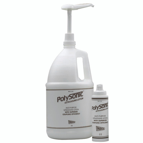 Polysonic¨ ultrasound lotion, 1 gallon refillable dispenser bottle - 4 units