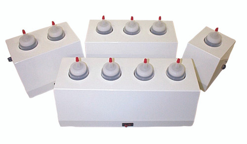 8 ounce gel warmer, 3 bottle capacity