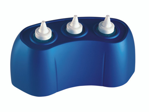 8 ounce gel warmer, 3 bottle capacity - blue