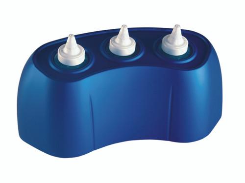 8 ounce gel warmer, 3 bottle capacity - blue