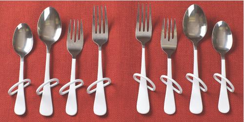 Finger Loop Utensil-Salad Fork - left hand