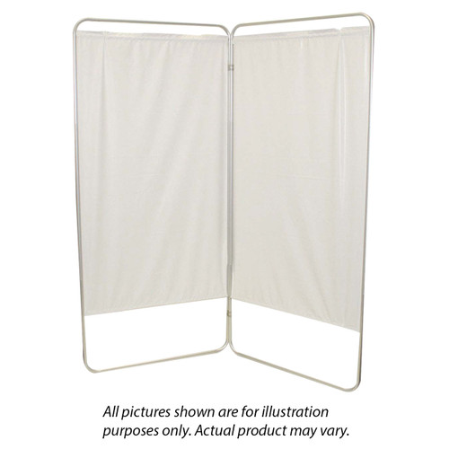 """Standard 2-Panel Privacy Screen - Yellow 4 mil vinyl, 35"""" W x 68"""" H extended, 19"""" W x 68"""" H x1.5"""" D folded"""