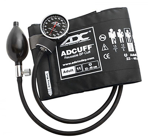 ADC Diagnostix Pocket Aneroid Sphyg, Adult, Black