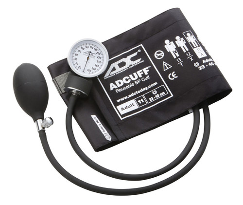 ADC Prosphyg Pocket Aneroid Sphyg, Adult, Black