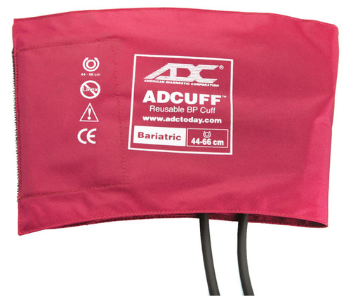 ADC Bariatric Adcuff Sphyg Cuff, 2 Tube, Burgundy