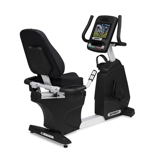 "Spirit CR800ENT Recumbent Bike, 57"" x 30"" x 51"""