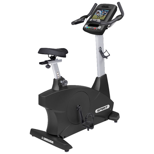 "Spirit CU800ENT Upright Bike, 78"" x 28"" x 67"""