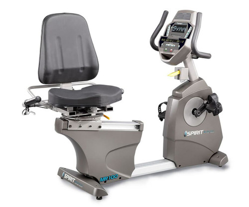 "Spirit MR100 Recumbent Ergometer Bike, 57"" x 30"" x 54"""
