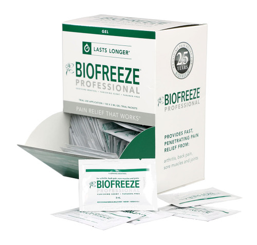 BioFreeze Professional Lotion - 5 gram dispenser, 1000 packets (10 boxes of 100)