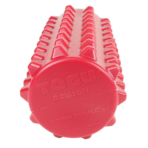 "Actiroll Spiked Massage Roller, Short - 12"" x 5"" - Red"