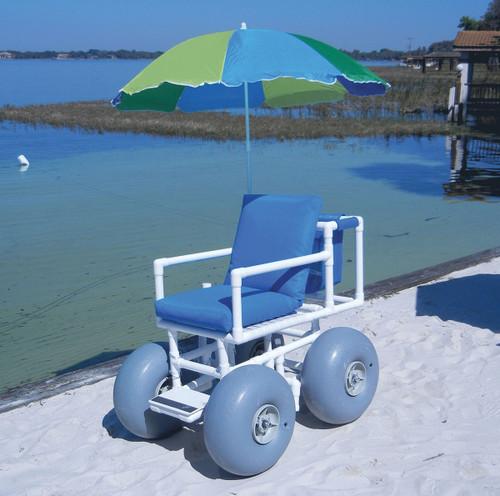 Beach Access Chair, 4 large wheels, 300 lb capacity