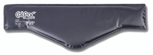 "ColPaC Blue Vinyl Cold Pack Black Urethane Cold Pack - neck - 6"" x 21"" - Case of 12"