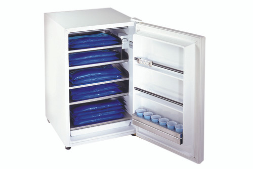 ColPaC Blue Vinyl Cold Pack freezer unit with 12 standard packs