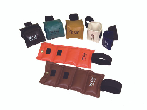 The Cuff¨ Original Ankle and Wrist Weight - 7 Piece Set - 1 each 1, 2, 3, 4, 5, 7.5, 10 lb