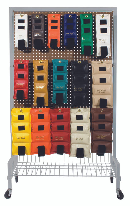 The Cuff¨ Original Ankle and Wrist Weight - 32 Piece Set with Rack - 2 each .25 - 10 lb