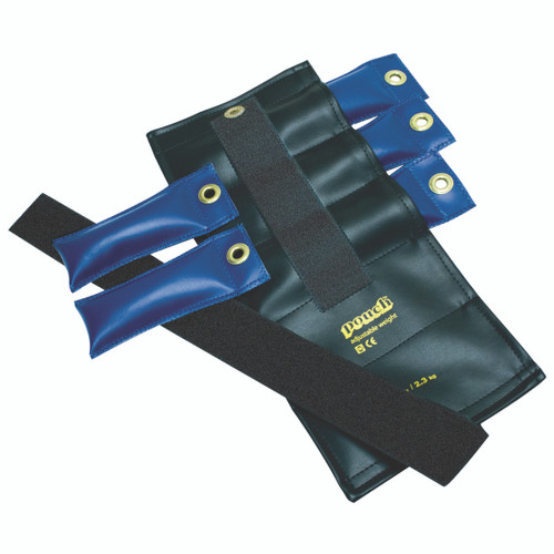 Pouch¨ Variable Wrist and Ankle Weight - 5 lb, 5 x 1 lb inserts - Black