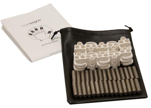 FingerWeights Finger Exerciser - 10 adjustable weight set, white