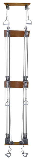 Chest Weight Pulley System - Triplex handle (lower, mid, upper) - two towers - 10 x 2.2 lb weights
