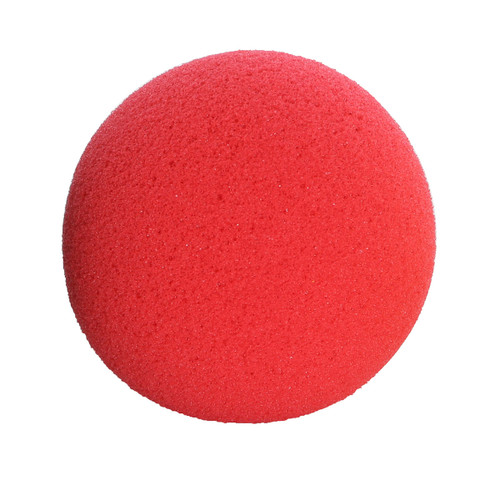 "CanDo¨ Memory Foam Squeeze Ball - 3.0"" diameter - Red, easy, dozen"