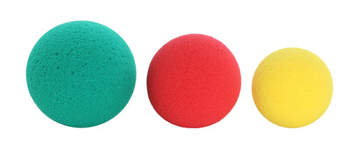 CanDo¨ Memory Foam Squeeze Ball - 3-piece set (yellow, red, green)