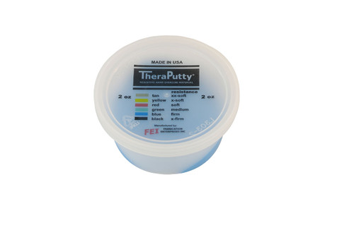 CanDo¨ Theraputty¨ Exercise Material - 2 oz - Blue - Firm