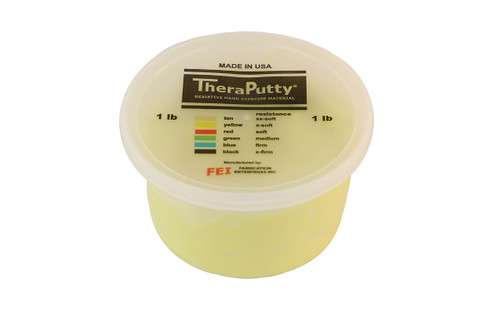CanDo¨ Theraputty¨ Exercise Material - 1 lb - Yellow - X-soft