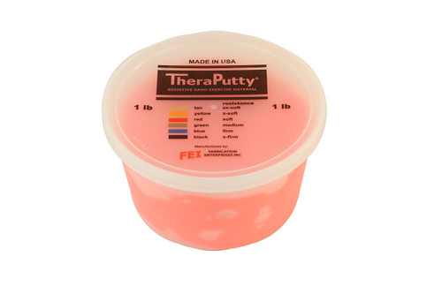 CanDo¨ Theraputty¨ Exercise Material - 1 lb - Red - Soft