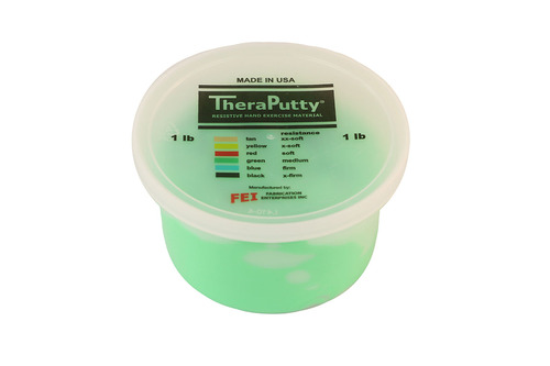 CanDo¨ Theraputty¨ Exercise Material - 1 lb - Green - Medium