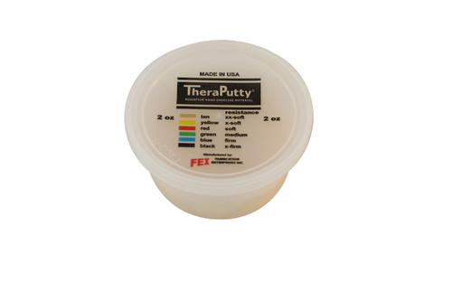 CanDo¨ Theraputty¨ Exercise Material - 2 oz - Tan - XX-Soft