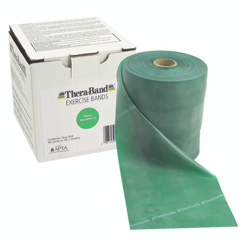 TheraBand¨ exercise band - 50 yard roll - Green - heavy