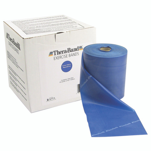TheraBand¨ exercise band - 50 yard roll - Blue - extra heavy
