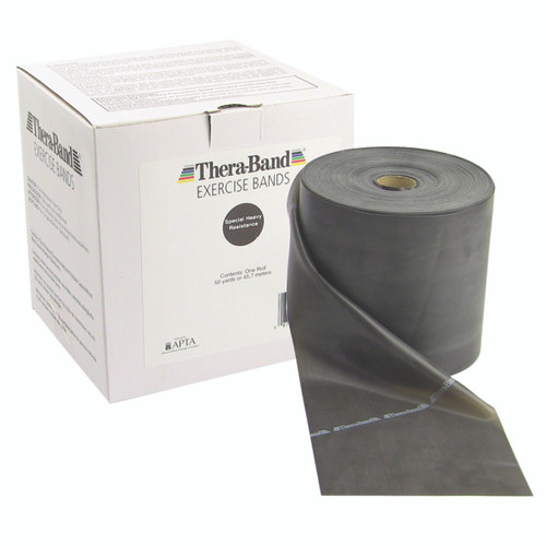 TheraBand¨ exercise band - 50 yard roll - Black - special heavy