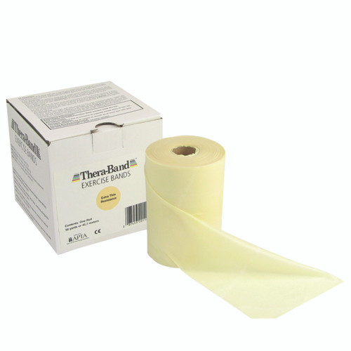 TheraBand¨ exercise band - 50 yard roll - Tan - extra thin