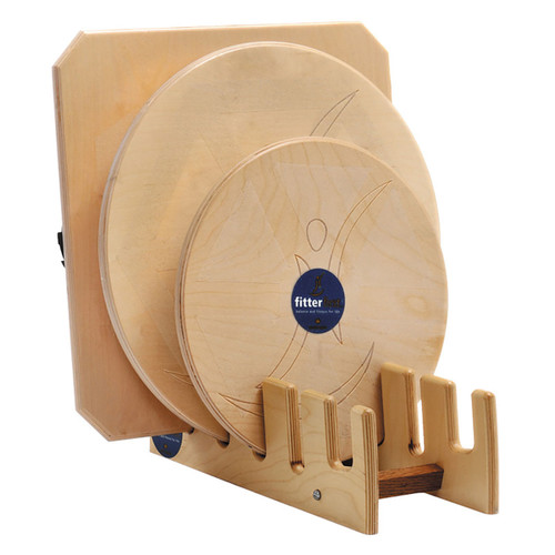 "Wobble board set, 16"" and 20"" round board, 20"" square board, with stand"