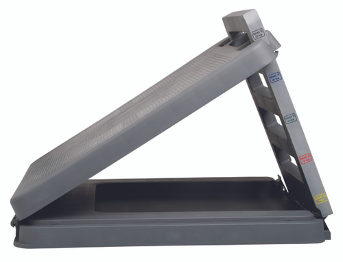 "FabStretch¨ 4-Level Incline Board - Heavy Duty Plastic - 5, 15, 25, 35 Degree Elevation - 14"" x 14"" Surface"