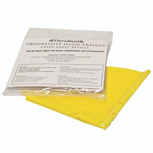 TheraBand¨ Progressive Hand Trainer - 6 refills - Yellow, x-light