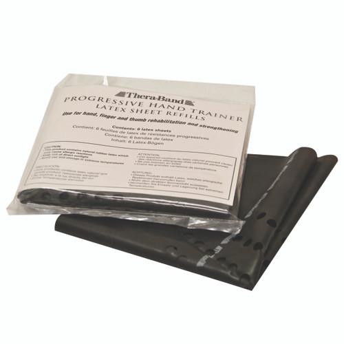 TheraBand¨ Progressive Hand Trainer - 6 refills - Black, x-heavy