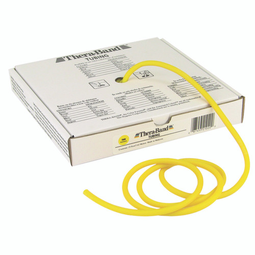 TheraBand¨ exercise tubing - 25' roll - Yellow - thin