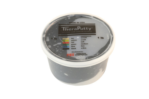 CanDo¨ Theraputty¨ Exercise Material - 1 lb - Black - X-firm