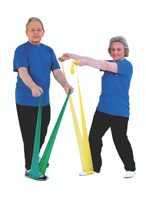 TheraBand¨ exercise band - 30 x 5 foot piece dispenser - Yellow - thin