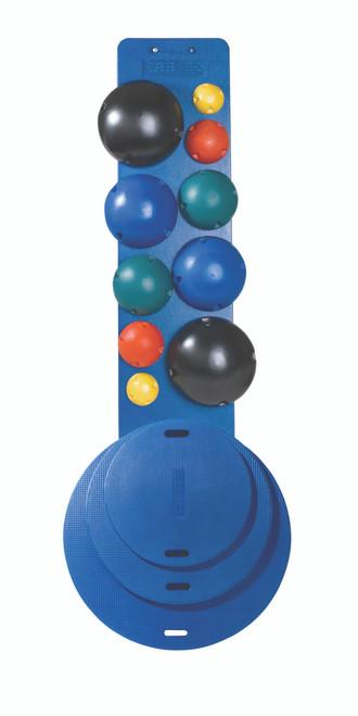 CanDo¨ MVP¨ Balance System - 10-Ball Set (2 each: yellow, red, green, blue, black), no rack