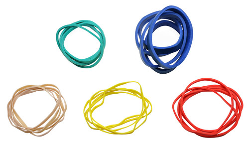 CanDo¨ Hand Exerciser - Additional Latex Free Bands - 25 bands (5 each: tan, yellow, red, green, blue)