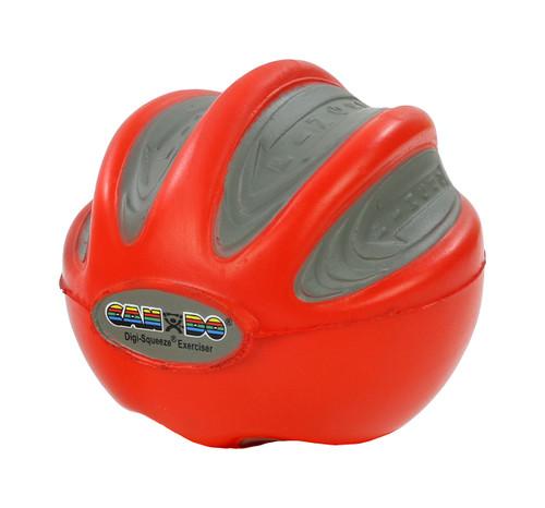 CanDo¨ Digi-Squeeze¨ hand exerciser - Small - Red, light