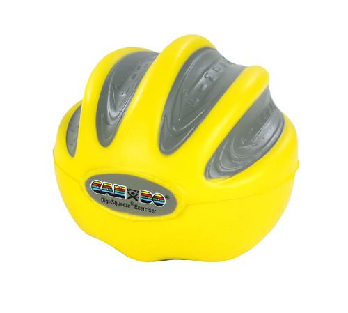 CanDo¨ Digi-Squeeze¨ hand exerciser - Medium - Yellow, x-light